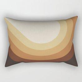 Retro Brown Rectangular Pillow