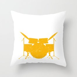 The Tempo Is Whatever I Say It Is Drum Kit Drummer Set Stick Percussion Throw Pillow