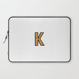 Uppercase Letter K Doodle Laptop Sleeve