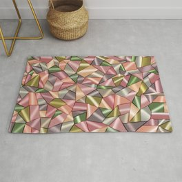 Abstract pattern in Cubism style Rug