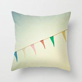 Joyous Carnival Flags Throw Pillow