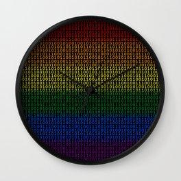 Binary Rainbow Wall Clock