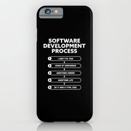 Software Development Process Funny Gift iPhone Case
