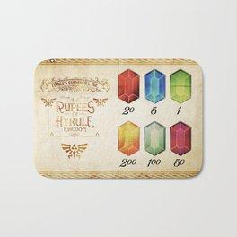 Legend of Zelda - The Rupees of Hyrule Kingdom Guide Bath Mat
