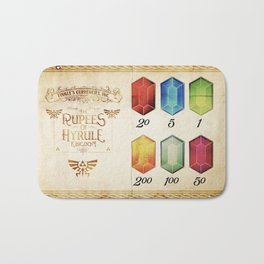 Legend of Zelda - The Rupees of Hyrule Kingdom Guide Bath Mat