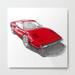 Red Ferrari for Christmas Metal Print