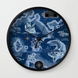 Fisherman's Cove Blue Wall Clock