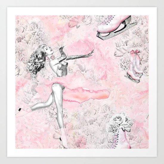 Figure Skating #4 Art Print