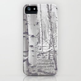 Black and White Aspens iPhone Case
