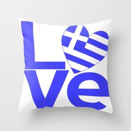 LOVE in Greece Throw Pillow