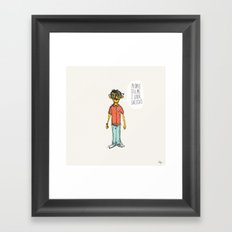 Sketchy Dude Framed Art Print