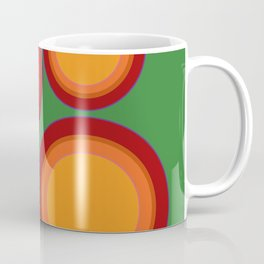 70s retro chic  - Sunspots in Green Coffee Mug