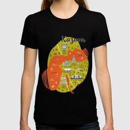 Map of Kazan T-shirt