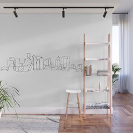Boston Skyline Drawing Wall Mural