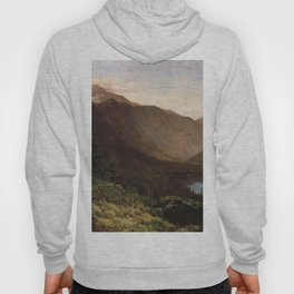 Mount Lafayette Franconia Notch New Hampshire 1870 By Thomas Hill | Reproduction Hoody
