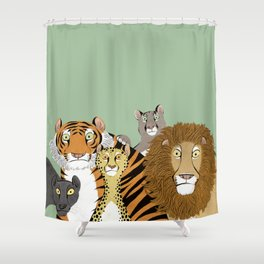 Surprised Big Cats Shower Curtain