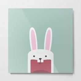 Jawdrop Bunny Metal Print