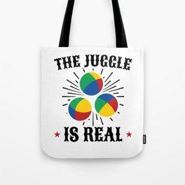 Colorful Juggling, Juggle Design Tote Bag
