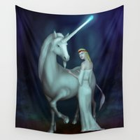 unicorn Wall Tapestries featuring Unicorn by Egberto Fuentes