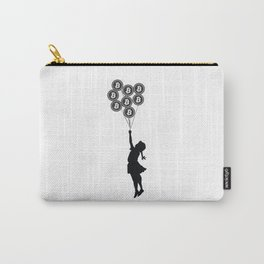 Girl With Bitcoin Balloons Carry-All Pouch