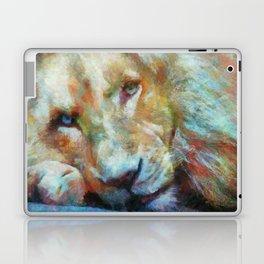 Lion Painting by Chris Ellis Laptop & iPad Skin