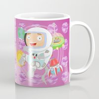 astronaut Mugs featuring Astronaut by Alapapaju
