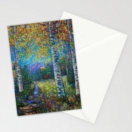 Nocturne Blue - Palette Knife Stationery Cards