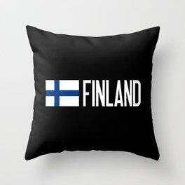 Finland: Finnish Flag & Finland Throw Pillow