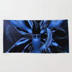Butterfly in a Cosmic Web Beach Towel