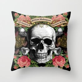 WILLSHAKESPEARE    And Cursed be He Throw Pillow