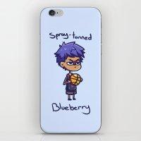 kuroko iPhone & iPod Skins featuring Aomine knb by HeliPeach