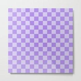 Lavender Check Metal Print