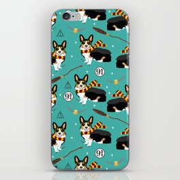 Corgi tricolored witch wizard magic dog breed gifts iPhone Skin
