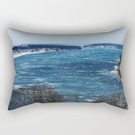 Endless Blue Rectangular Pillow