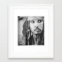 jack sparrow Framed Art Prints featuring Jack Sparrow by Christie Rainey