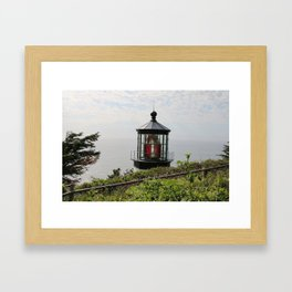 The Red Beacon On Tillamock Bay Framed Art Print
