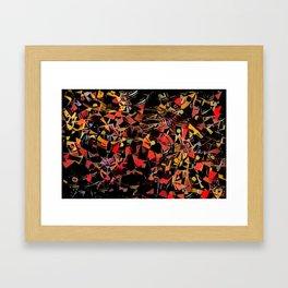 Sketchy Mosiac Framed Art Print