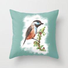 Watercolor Bird Throw Pillow