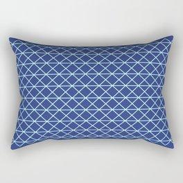 Blue Technical Lines Rectangular Pillow