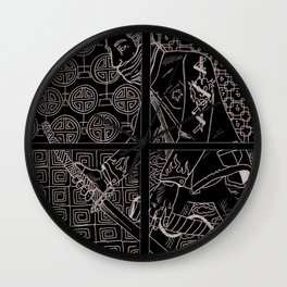 Modern Day Samurai Wall Clock
