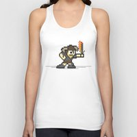 skyrim Tank Tops featuring 8 bit Dovahkiin by Deep Search
