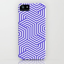 Majorelle blue - blue - Minimal Vector Seamless Pattern iPhone Case