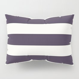 summer beach coastal nautical french fashion navy blue stripes Pillow Sham