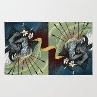 """dragon age Area & Throw Rugs featuring Dragon Age - Qunari - Betrayal by Barbara """"Yuhime"""" Wyrowińska"""