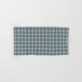 Teal Mauve Pinwheel Pattern Hand & Bath Towel