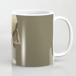 Man with Big Ball Illustration brown Coffee Mug