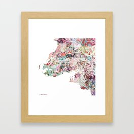 La Rochelle map Framed Art Print