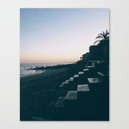 Sun Set Silhouette Canvas Print