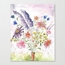 Cotton Candy Floral Canvas Print
