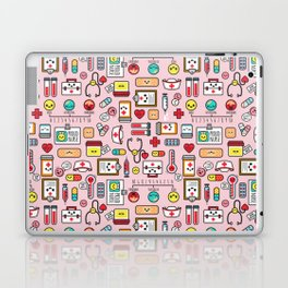 Proud To Be A Nurse pattern in pink Laptop & iPad Skin